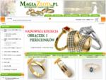 Złote obrączki ślubne, obrączki z tytanu, pierścionki z brylantami - MagiaZlota. pl - Internetowy