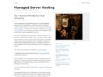 Managed Server Hosting | Server Hosting