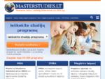 MBA, magistro studijų programas, kursų, mokyklų ir universitetų