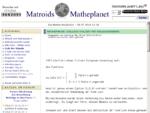 Matroids Matheplanet - Die Mathe Redaktion - Portal Mathematik