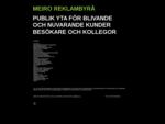 Meiro Reklambyrå-Specialist på marknadsföring och reklam - Startsida