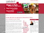 Mélodie 7 - Ecoles des arts du spectacle à Marseille et Paris