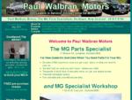 Paul Walbran Motors - MG Parts, Austin Healey parts, Triumph parts and Jaguar parts - Home