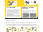 nanoSIM in microSIM adapterji