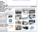 » Used Printing press - Microtec Srl printing presses supplier for label and web screen machine