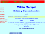 Milian Mampel. Web de los Apellidos. Origen. Genealogàa. Escudo