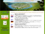 Kamperen in Duitsland op camping Rissbach direct aan de Moezel. Campen am Campingplatz Rissbach an
