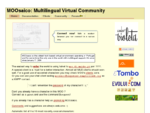 MOOsaico multilingual virtual environment MOO