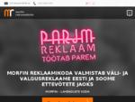 Valgusreklaami Ja Välireklaami Valmistamine - Morfin Reklaam