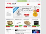MUSIC CITY... pro muzikanty | Hudební nástroje, kytary, bicí a audio