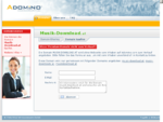 musik-download.at im Adomino.com Domainvermarktung Netzwerk