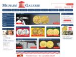 Muzejní Galerie - vše numismatika - zlaté mince, stříbrné mince a peníze, denár, měděné, koruny,