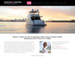 Luxury Charter Boat Yacht Hire in Sydney, Australia; Enigma Charters