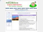 Elektrotechnik Neuböck - Photovoltaik - Solarstrom - Sonnenstrom - Wärmepumpe - Warmwasser - KNX Geb