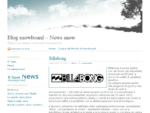 Blog snowboard – News snow