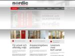 Nordic Dörrfabrik AB | dörrar, glaspartier, säkerhetsdörrar, ljuddörrar, dörrleverantör, ...