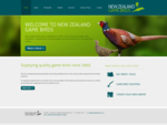 New Zealand Gamebirds | Pheasants, partridge, upland game, shooting, hunting, NZ, game preser