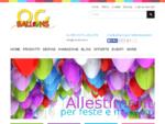 Allestimenti con palloncini , noleggio bombola elio Cuneo, negozio articoli per feste palloncini Cun