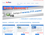 OnNet -gt;gt; Domene | Webhotell | E-post | Norges rimeligste
