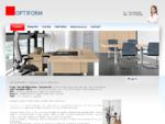 OPTIFORM Büroosisustus, büroomööbel, arvutilauad, metallriiulid, kontorilauad, mööbli müük, .
