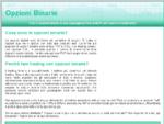 Opzioni Binarie in Italia - Trading su Forex, Azioni, Indici e Merci