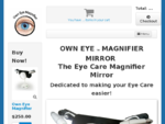 Own Eye Magnifier mirror for all eye care, magnifying ingrown eyelashes, inserting contact lenses,