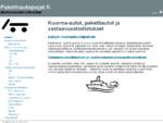 Autojen maahantuonti ja vastaavuustodistukset - Pakettiautopojat