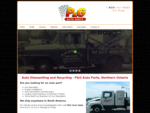 Auto Dismantling and Recycling - P and G Auto Parts, Northern Ontario