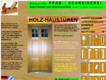 Schreinerei PFAB individuelle Haustüren aus Holz