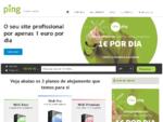 Ping | Alojamento Web – Registo de domínios – Servidores – Newsletters
