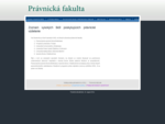 Právnická fakulta - všetko o právnickom vzdelaní na Slovensku