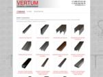 VERTUM - алюминиевые профили для шкафа-купе и кухни, уплотнители, ролики, стопоры и прочие ...