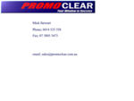 promoclear, a boards, POINT OF SALE