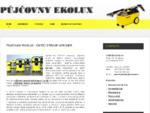 PŮJČOVNY EKOLUX - pronájem čistících strojů Kärcher