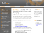 QuickCopy CD and DVD Packaging, Replication and Printing | Perth