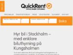 Quickrent - Biluthyrning i StockholmQuickRent | Den enkla biluthyrningen