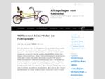 Alltagslieger von Radnabel Liegefahrad der Komfortklasse Liegeräder für den autofreien Alltag
