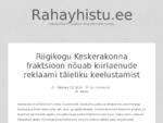 Rahayhistu. eeRahayhistu. ee - Raha ja finants uudised ning kõik meile huvitav