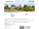 Ravenswood Manor | Accommodation | Bed Breakfast | Lake Karapiro | Cambridge