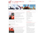 R J Crane Hire, mobile and crawler crane hire, cranes for sale, UK.