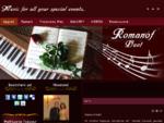 Romanof Duet ποιοτική Ζωντανή μουσική εκδηλώσεις Χορογραφίες πιάνο