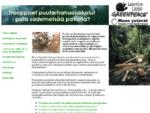 Tropiikin puutarhahuonekalut -kampanja Greenpeace - Luonto-Liitto - Maan ystauml;vauml;t