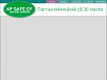 AP SAFE Oy security systems Turvallisuusalan verkkokauppa