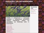 Salon Harmonia - ponuka masazi Bratislava-Ruzinov