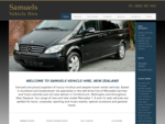Samuels Luxury Vehicle Hire, Mercedes Minivan and Car Rental Auckland