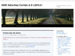 KDD Sà¡nchez Cortés 2. 0 ¿2011 - La web de los Sà¡nchez Cortés Rico Villarreal