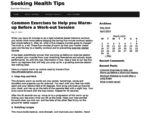 Seeking Health Tips - Exercise Directory
