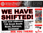 Serious Shooters The Best Gun Shop. 555 Great South Road, Penrose, Auckland. Phone (09) 579-3006
