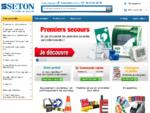 SETON - Panneaux, pictogrammes, étiquettes équipement de sécurité | Seton France