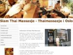 Thaimassasje Oslo - Aromaterapi i Oslo | Siam Thai Massasje